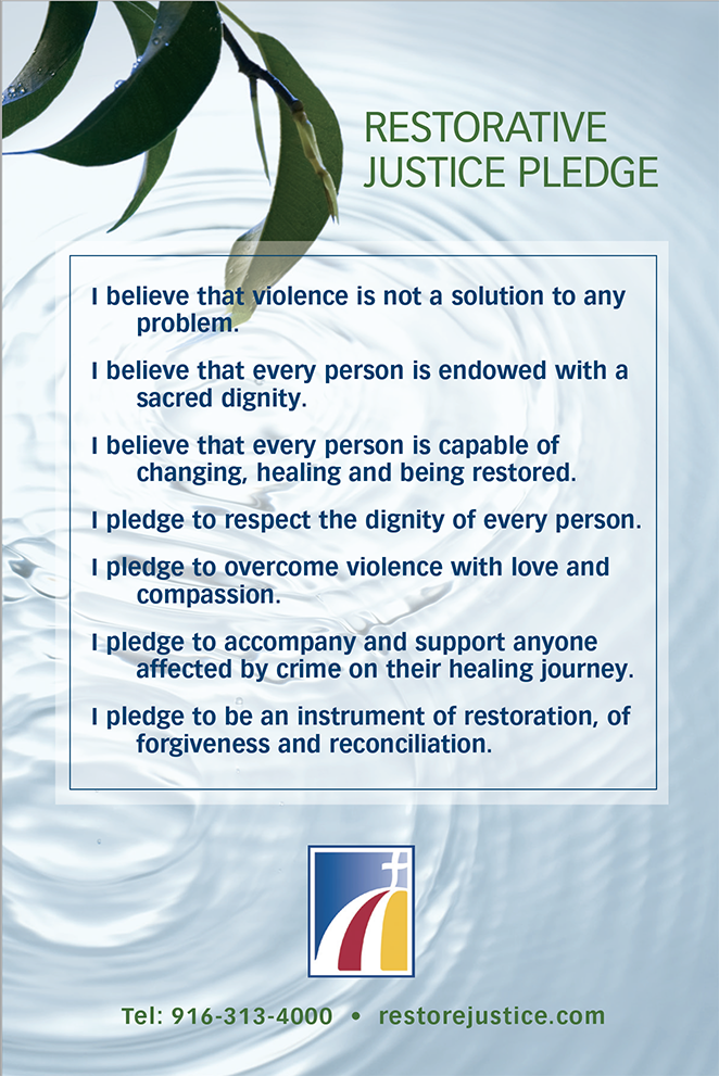 Restorative Justice Pledge in English