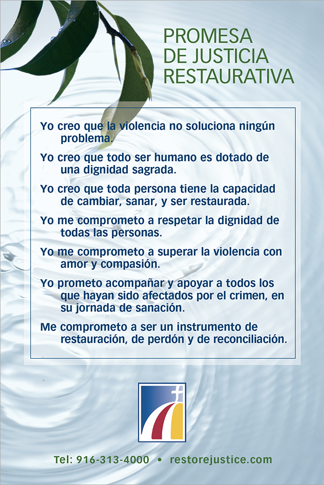 Restorative Justice Pledge in Spanish